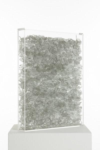 Box in Box, 2014. 50 x 40 x 6 cm. Plexiglass, glass. - © Ben Elliot
