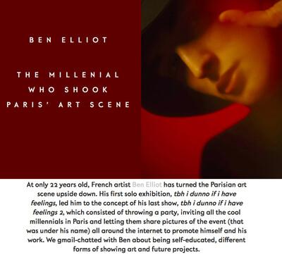 (link: http://metalmagazine.eu/bi/post/interview/ben-elliot-the-millenial-who-shook-paris-art-scene-anna-baques text: read more popup: yes) - © Ben Elliot