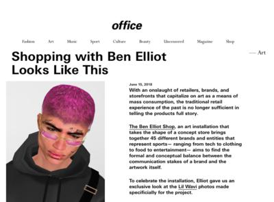 (link: http://www.officemagazine.net/shopping-ben-elliot-looks text: read more popup: yes) - © Ben Elliot