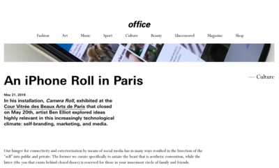 (link: http://officemagazine.net/iphone-roll-paris?page=17 text: read more popup: yes) - © Ben Elliot