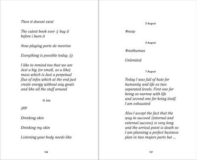 Diary extracts - © Ben Elliot