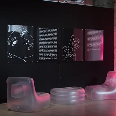 The Stalker, 2019. Exhibition view, Magasins Généraux, Pantin, France. - © Ben Elliot