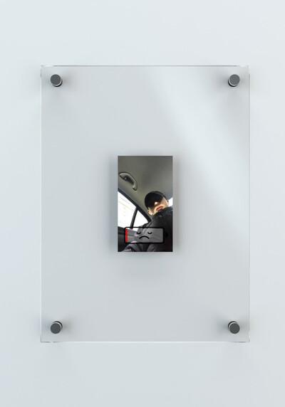 Unreleased Selfies, ongoing series. Digital print. 12.3 x 7 cm (36 x 27 cm frame). - © Ben Elliot